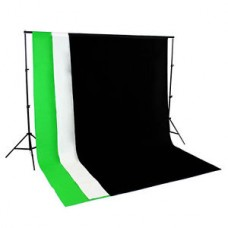 Non Woven 2 x 2m Support + 1.6 x 2m  Non Woven Fabric Backdrops Choose Color