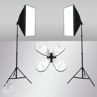 Softbox Set 360W Four Head Continuous Lighting Stand