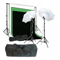 Umbrella Kit 1.8 x 2.8m Muslin Choose Color Background 2 x 3m Support System 250W