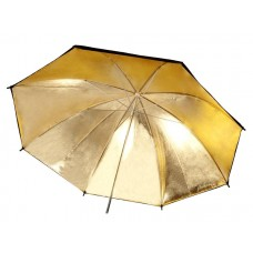 84cm 33 inch Gold & Black Umbrella