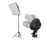 Softbox Set 180W One Continuous Soft Box Light Kit 4 Head