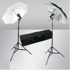 90w Flash Strobe Light Stand Umbrella Kit