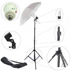 45w Flash Strobe Light Stand Umbrella Kit